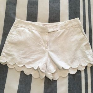 Scalloped Shorts from J. Crew Factory